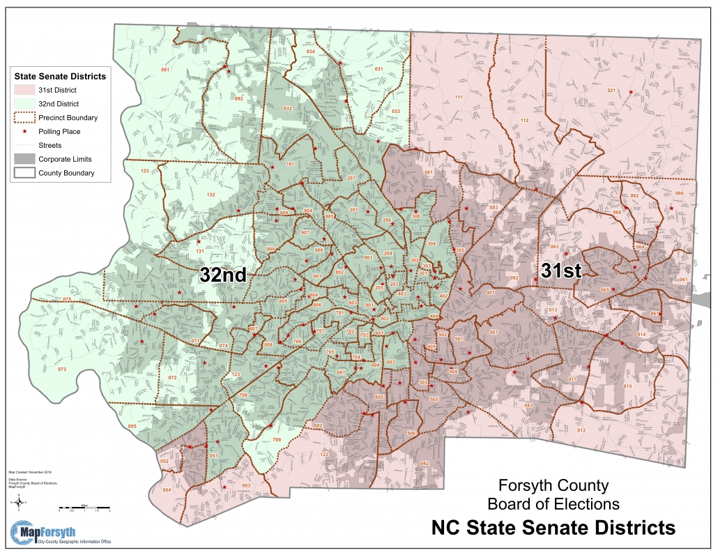 Forsyth Co State Senate Districts