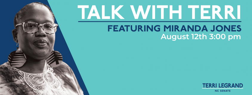Talk with Terri and special guest Miranda Jones