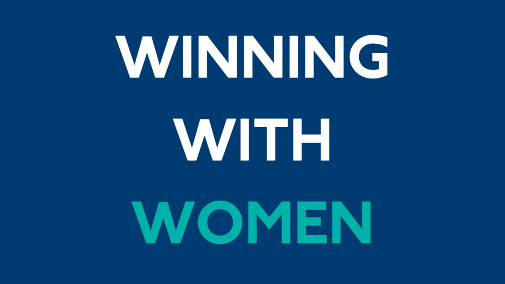 Winnng with Women Zoom Background